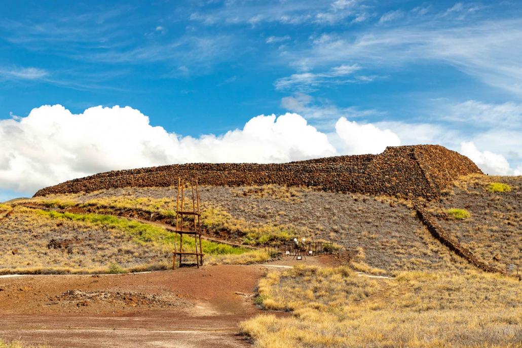 Pu'ukohola Heiau Entrance and Offering Alter National Historic Site Big Island Hawaii