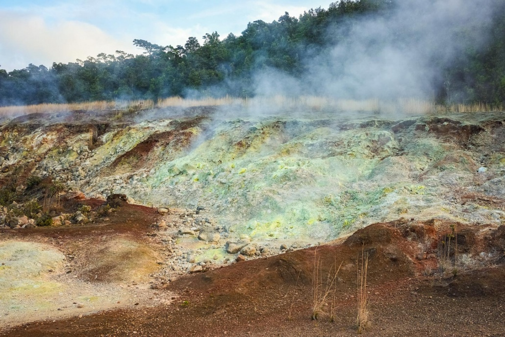 Volcanic Gases Rich In Carbon Dioxide and SulfurDioxide And Hydrogen