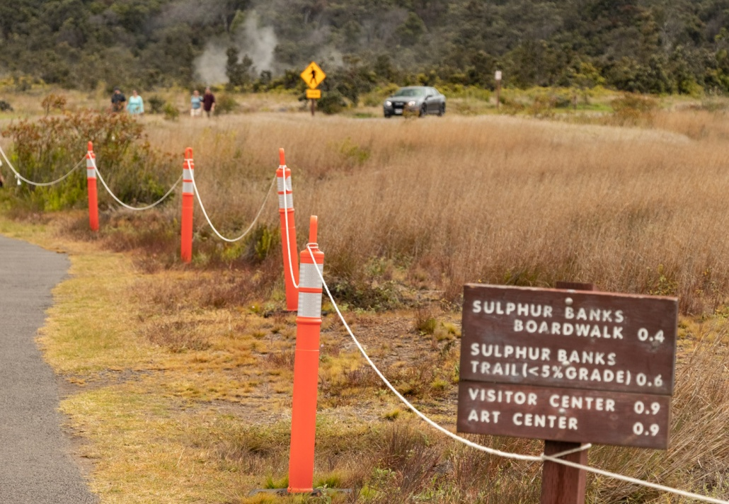 The crater rim trail leads to several other popular spots